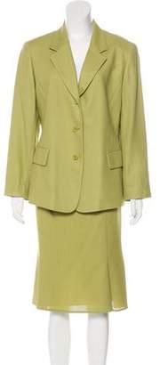 Lafayette 148 Wool & Silk Blend Skirt Suit