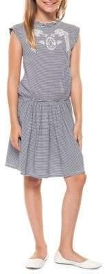Dex Girl's Striped Mockneck Dress