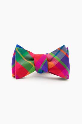 Gents Just Madras Confetti Plaid Silk Bow Tie