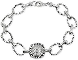 Giani Bernini Cubic Zirconia Pave Link Bracelet in Sterling Silver