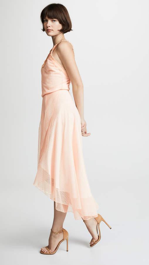 Herzog Dot Lace Midi Dress