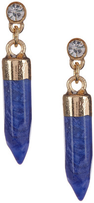 Kenneth Cole New York Blue Bullet Drop Earrings $20 thestylecure.com
