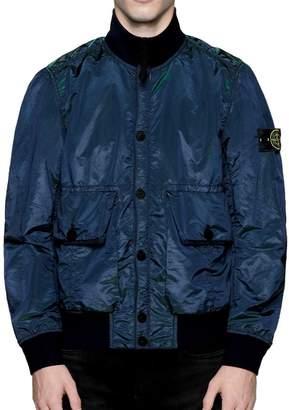 Stone Island Mens dark navy bomber jacket Nylon Metal Watro Weft - M