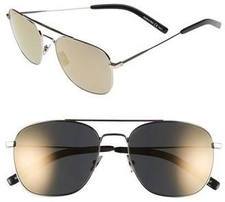 Saint Laurent 55mm Sunglasses $385 thestylecure.com