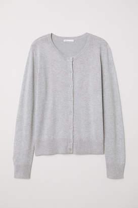H&M Fine-knit Cardigan - Gray