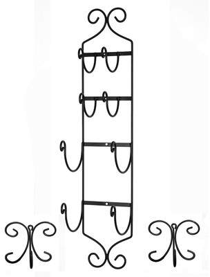 Concept Housewares High Quality Wall Mounted Towel Hook and Hook Rack Set
