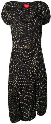 Vivienne Westwood PRE-OWNED abstract print draped dress