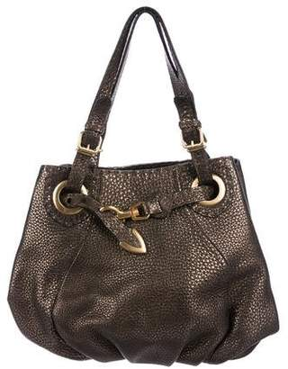 Fendi Selleria Tumbled Leather Shoulder Bag