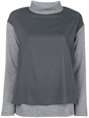 Fabiana Filippi two-tone layered blouse