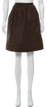 Ralph Lauren Silk Knee-Length Skirt Brown Silk Knee-Length Skirt