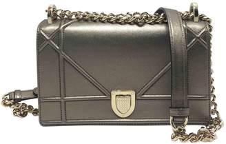Christian Dior Diorama Metallic Leather Handbag