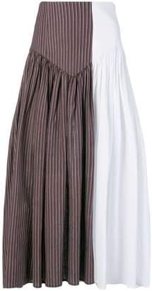 Atelier Bâba two-tone gathered skirt