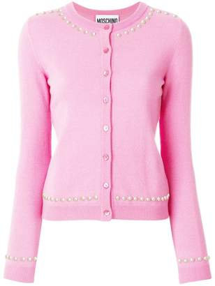 Moschino Playboy studded cardigan