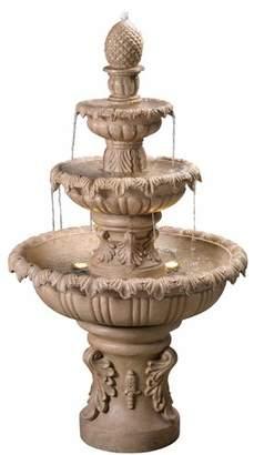 Fleur De Lis Living Danelle Resin Outdoor Fountain with Light