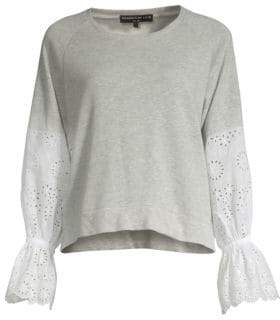 Generation Love Penelope Eyelet Sleeve Top