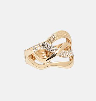 Avenue Diamond Wave Gold Stretch Ring