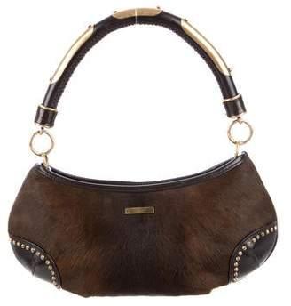 Burberry Ponyhair & Leather Satchel