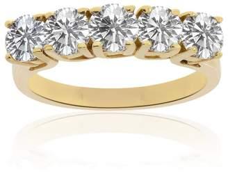 575 Denim 14K Yellow Gold & 1.50ct Diamond Wedding Band Ring Size