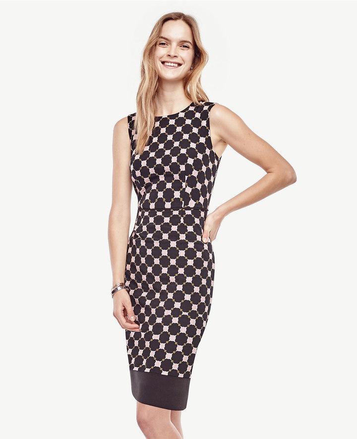 Ann TaylorMixed Circle Sheath Dress