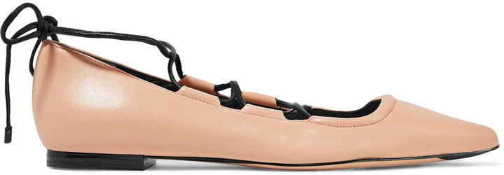 3.1 Phillip Lim3.1 Phillip Lim Kiddie lace-up leather point-toe flats