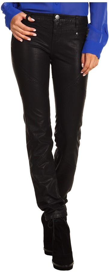Free People Vegan Leather Pant (Black) - Apparel