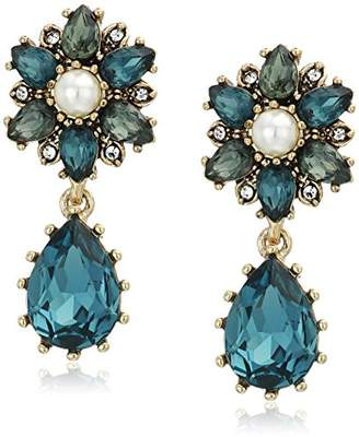 Marchesa Women's Gold/ Multi Double Drop Earrings