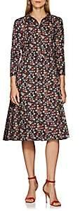 Zac Posen Women's Floral Cotton Poplin Shirtdress