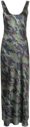 Nili Lotan camouflage print maxi dress
