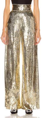 Dundas Sequin Wide Leg Pant in Gold   FWRD