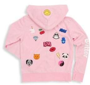 Butter Shoes Girl's Assorted Patch Hoodie