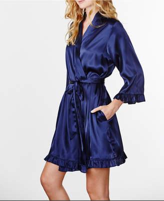 Wedding Prep Gals Plus Size Plain Ruffle Robe, Online Only