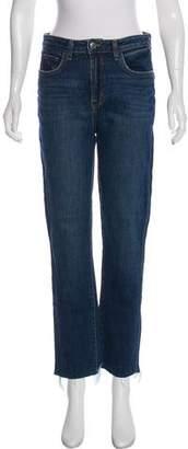 L'Agence Lorelei High-Rise Straight-Leg Jeans w/ Tags