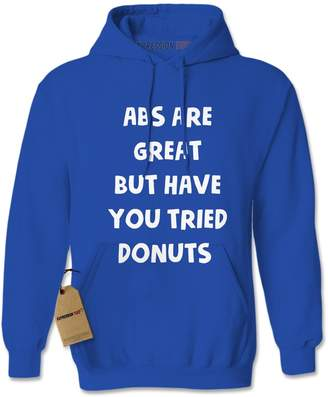 ABS by Allen Schwartz Expression Tees Hoodie are Great Try Donuts Adult