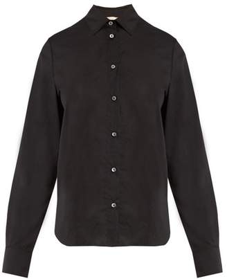 Brock Collection - Baylee Point Collar Cotton Voile Shirt - Womens - Black