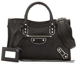 Balenciaga Classic Metallic Edge City Small Bag $1,895 thestylecure.com