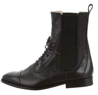 By Malene Birger Leather Combat Ankle Boots