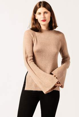 Azalea Fuzzy Mock Neck L/S Sweater