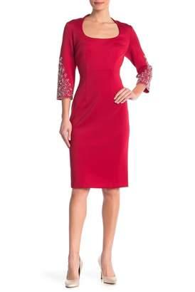SL Fashions Bejeweled Sleeve Dress