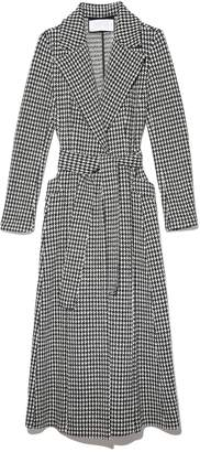 Harris Wharf Boucle Long Duster Coat in Black/White Macro