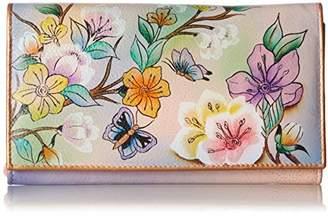 Anuschka Women's Genuine Leather Wallet | Hand Painted Original Artwork | Multipocket Clutch |