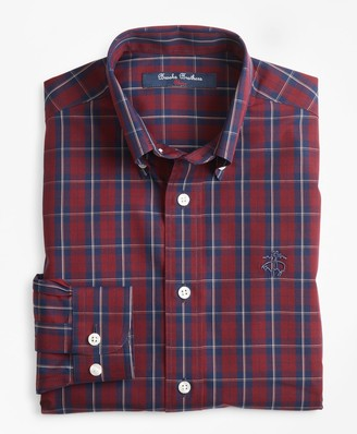 Brooks Brothers Boys Non-Iron Check Sport Shirt