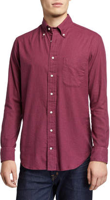 Gitman Brothers Men's Classic Flannel Solid Sport Shirt