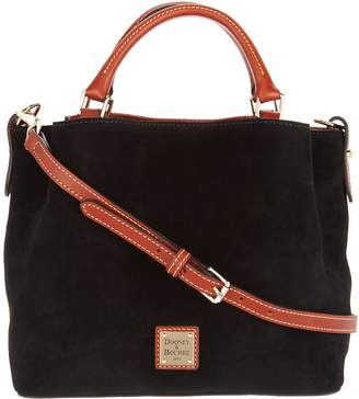 Dooney & Bourke Suede Small Brenna Satchel Handbag