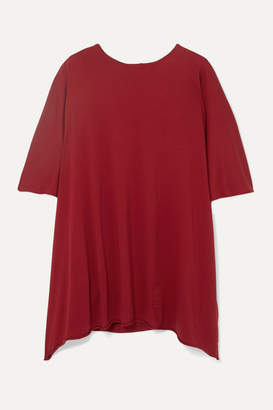 Rick Owens Minerva Oversized Cotton-jersey Top - Red