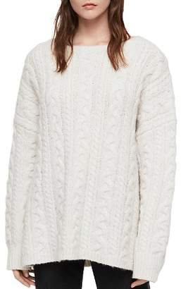AllSaints Oversized Cable-Knit Sweater