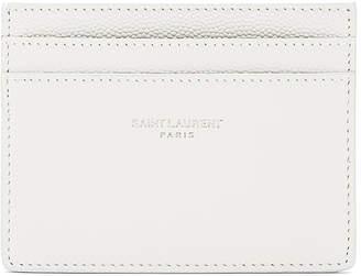 Saint Laurent Full Grain Cardholder in Optic White   FWRD