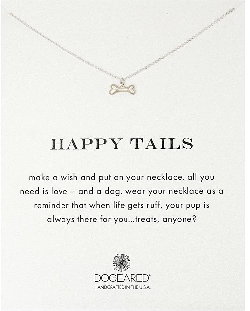 Dogeared - Happy Tails Dog Bone Necklace Necklace