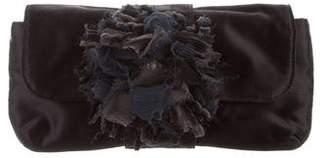 Lanvin Satin Embellished Clutch