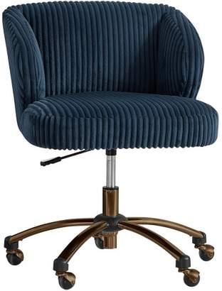 Pottery Barn Teen Midnight Chamois Wingback Desk Chair