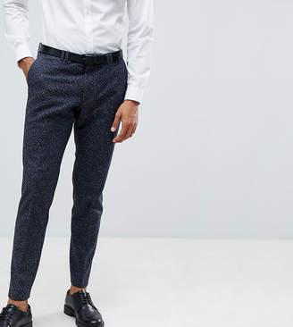Noak Skinny Suit Pants In Polka Dot Fleck